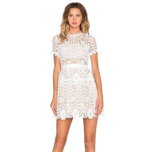 Bronx & Banco White Positano Dress